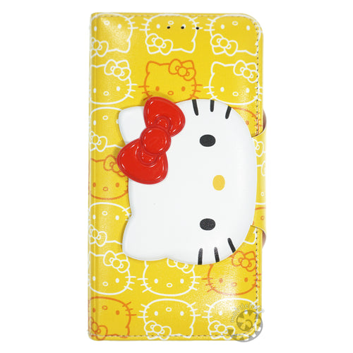 iPhone 6S / iPhone 6 Case (4.7inch) HELLO KITTY Diary Wallet Flip - Button Face Yellow