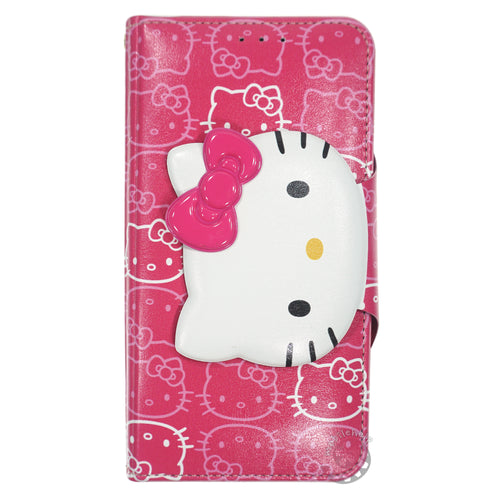 iPhone 6S / iPhone 6 Case (4.7inch) HELLO KITTY Diary Wallet Flip - Button Face Hot Pink