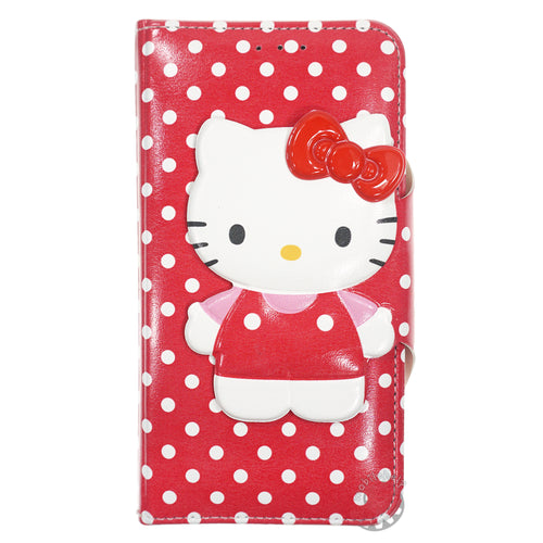 iPhone 6S / iPhone 6 Case (4.7inch) HELLO KITTY Diary Wallet Flip - Button Body Red
