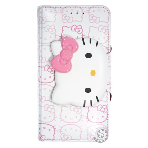 iPhone 6S / iPhone 6 Case (4.7inch) HELLO KITTY Diary Wallet Flip - Button Face White