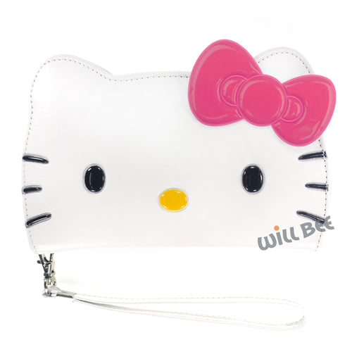 iPhone 6S / iPhone 6 Case (4.7inch) HELLO KITTY Diary Wallet Flip Strap Included Cover - Big Face White