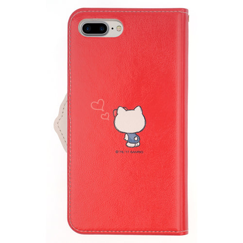 iPhone 6S / iPhone 6 Case (4.7inch) HELLO KITTY Diary Wallet Flip Mirror Cover - Walking Red
