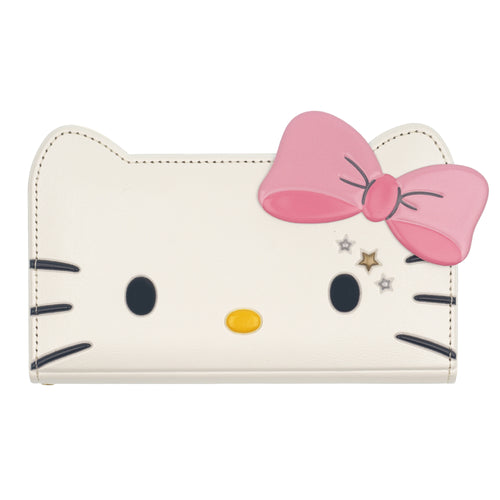 Galaxy S20 Ultra Case (6.9inch) HELLO KITTY Diary Wallet Flip Mirror Cover - Twinkle White Ribbon Pink