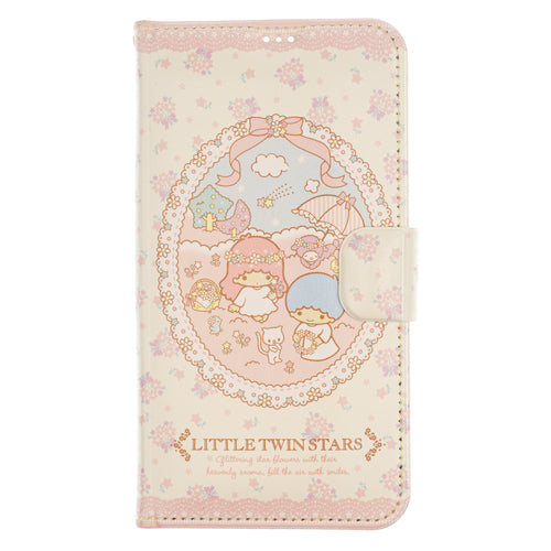 Galaxy S20 Ultra Case (6.9inch) Sanrio Diary Wallet Flip Mirror Cover - Little Twin Stars Diary