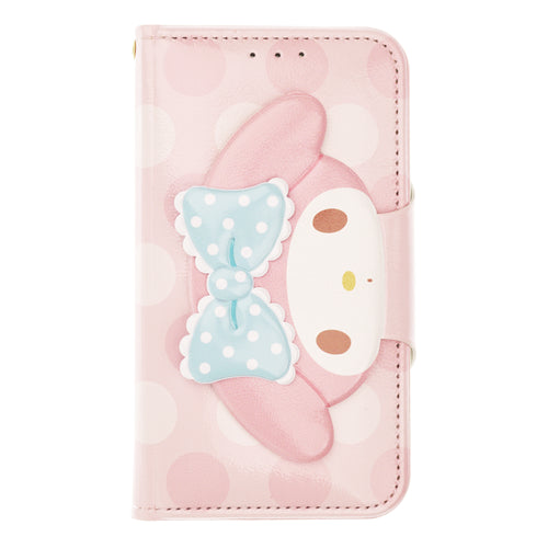 Galaxy S20 Ultra Case (6.9inch) Sanrio Diary Wallet Flip Mirror Cover - Face Button My Melody Pink