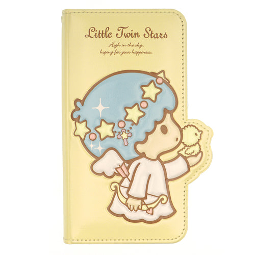 Galaxy S20 Ultra Case (6.9inch) Sanrio Diary Wallet Flip Mirror Cover - Little Twin Stars Yellow