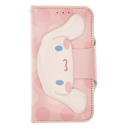 Galaxy S20 Ultra Case (6.9inch) Sanrio Diary Wallet Flip Mirror Cover - Face Button Cinnamoroll Pink