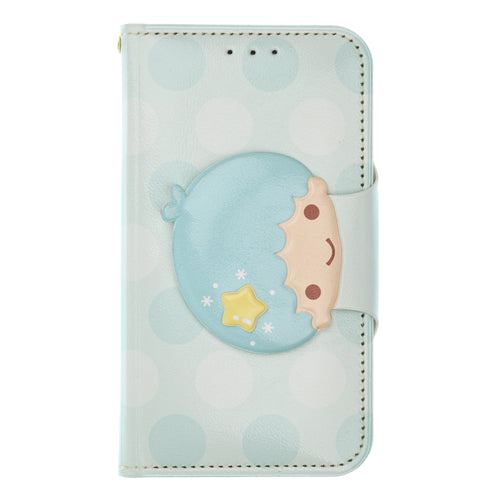 Galaxy S20 Ultra Case (6.9inch) Sanrio Diary Wallet Flip Mirror Cover - Face Button Little Twin Stars Kiki