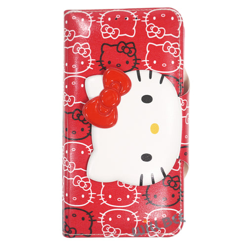 Galaxy S6 Case (5.1inch) HELLO KITTY Diary Wallet Flip - Button Face Red
