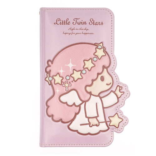 Galaxy S6 Case (5.1inch) Sanrio Diary Wallet Flip Mirror Cover - Little Twin Stars Purple