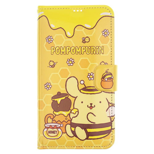 Galaxy S6 Edge Case Sanrio Diary Wallet Flip Mirror Cover - Pompompurin Honey Pot