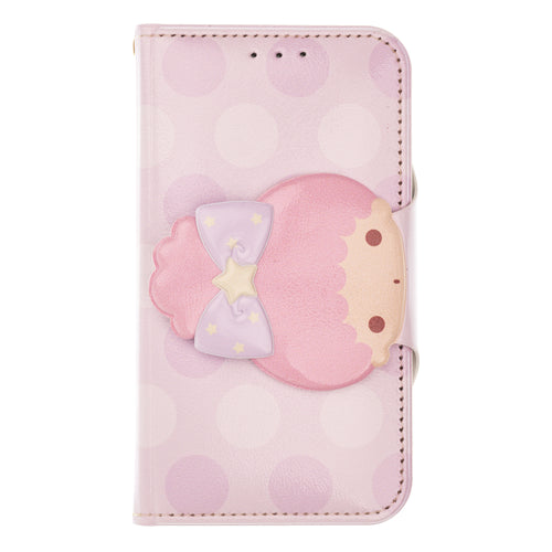 Galaxy S6 Case (5.1inch) Sanrio Diary Wallet Flip Mirror Cover - Face Button Little Twin Stars Lala
