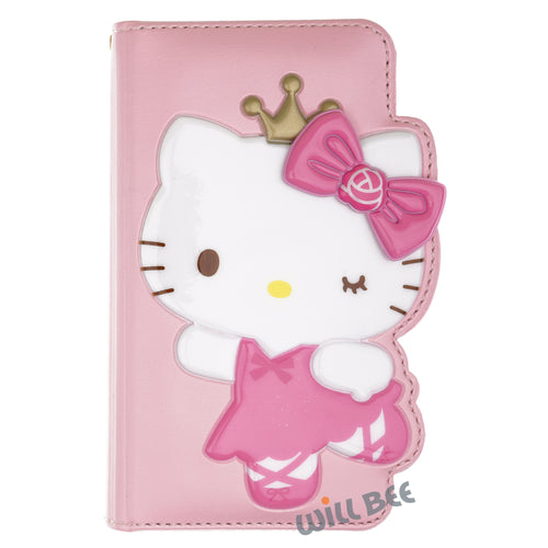 Galaxy S6 Edge Case HELLO KITTY Diary Wallet Flip - Dance Baby Pink