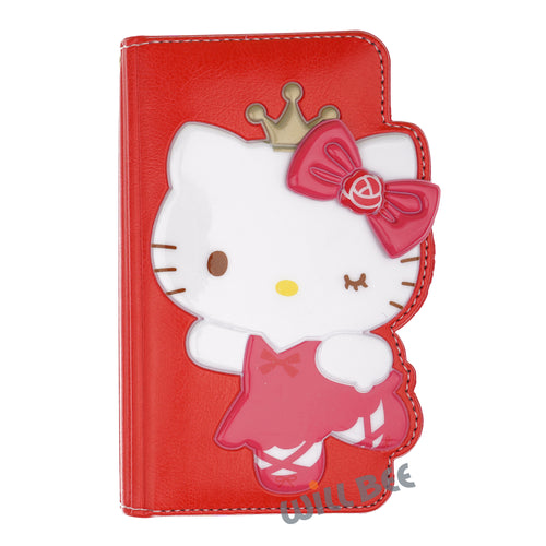 Galaxy S6 Edge Case HELLO KITTY Diary Wallet Flip - Dance Red