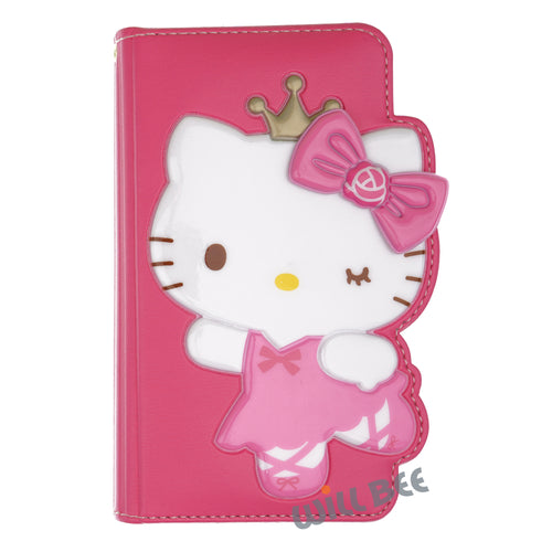 Galaxy S6 Case (5.1inch) HELLO KITTY Diary Wallet Flip - Dance Hot Pink