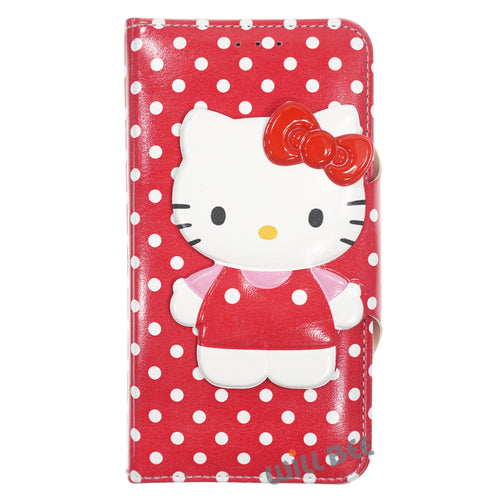 Galaxy S6 Edge Case HELLO KITTY Diary Wallet Flip - Button Body Red