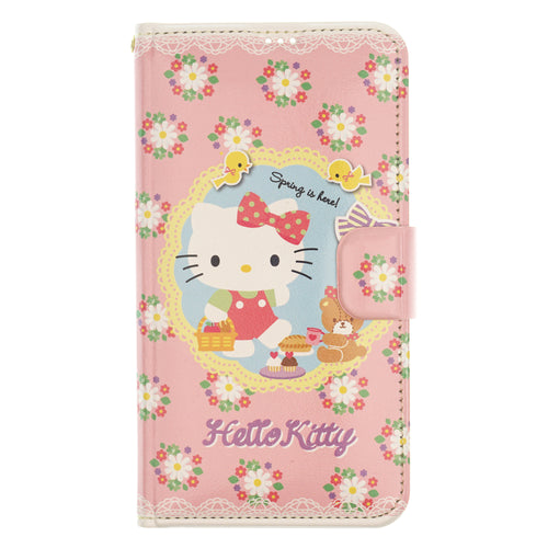 Galaxy S6 Case (5.1inch) Sanrio Diary Wallet Flip Mirror Cover - Hello Kitty Diary