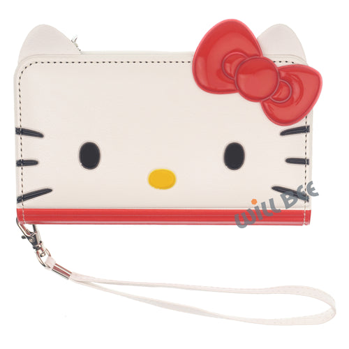 Galaxy S6 Case (5.1inch) HELLO KITTY Diary Flip [ Double Sided Wallet ] Mirror Coin Pocket Cover - Wallet Face Red