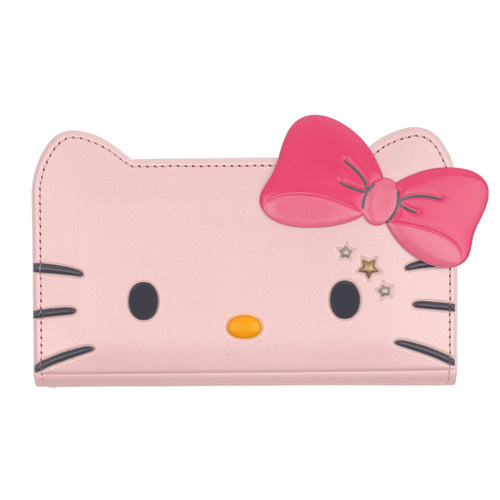 Galaxy S6 Edge Case HELLO KITTY Diary Wallet Flip Mirror Cover - Twinkle Pink