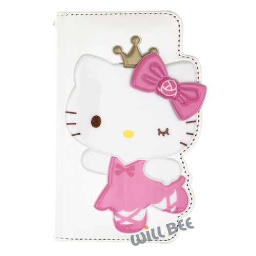 Galaxy S6 Edge Case HELLO KITTY Diary Wallet Flip - Dance White