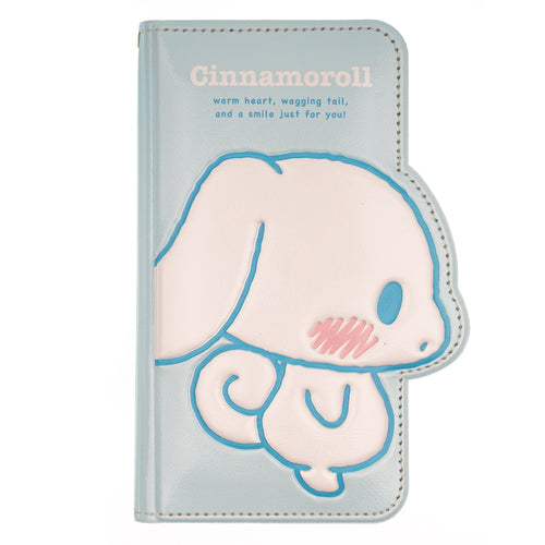 Galaxy S6 Edge Case Sanrio Diary Wallet Flip Mirror Cover - Cinnamoroll Shy Blue
