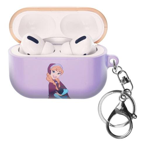 Disney Frozen AirPods Pro Case Key Ring Keychain Key Holder Hard PC Shell Strap Hole Cover - Frozen Anna