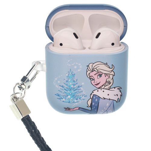 Disney Frozen AirPods Case Neck Lanyard Protective Hard PC Shell Strap Hole Cover - Frozen Elsa