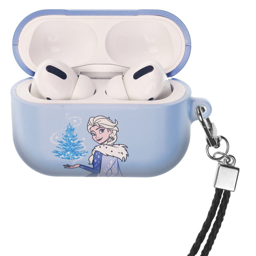 Disney Frozen AirPods Pro Case Neck Lanyard Hard PC Shell Strap Hole Cover - Frozen Elsa