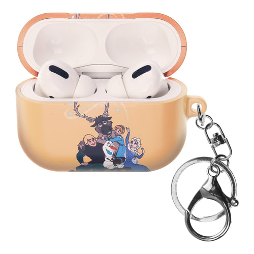 Disney Frozen AirPods Pro Case Key Ring Keychain Key Holder Hard PC Shell Strap Hole Cover - Frozen Family