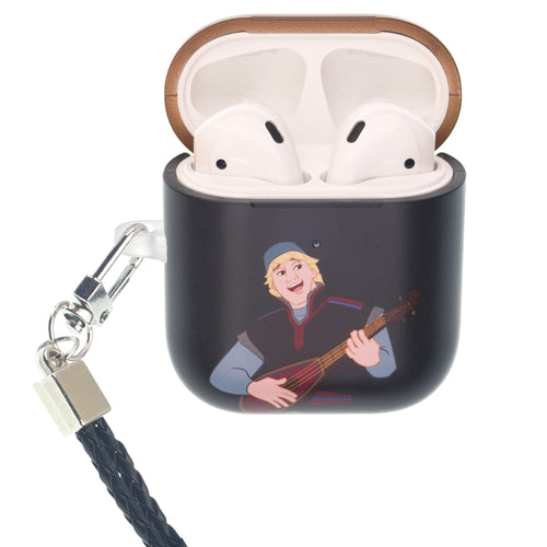 Disney Frozen AirPods Case Neck Lanyard Protective Hard PC Shell Strap Hole Cover - Frozen Kristoff