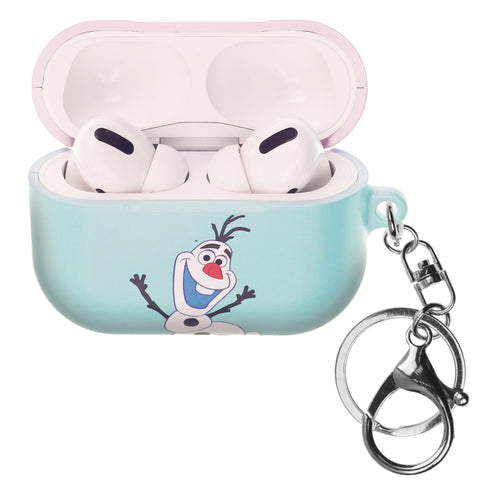 Disney Frozen AirPods Pro Case Key Ring Keychain Key Holder Hard PC Shell Strap Hole Cover - Frozen Olaf