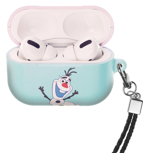 Disney Frozen AirPods Pro Case Neck Lanyard Hard PC Shell Strap Hole Cover - Frozen Olaf