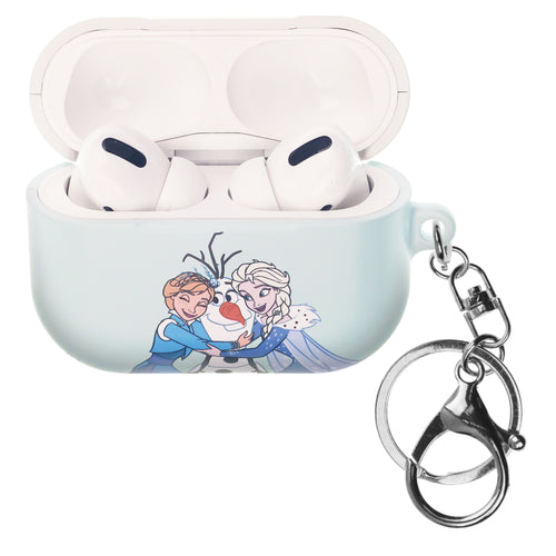 Disney Frozen AirPods Pro Case Key Ring Keychain Key Holder Hard PC Shell Strap Hole Cover - Frozen Sister