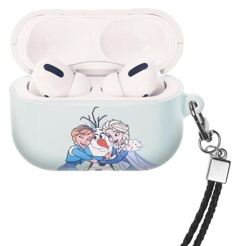 Disney Frozen AirPods Pro Case Neck Lanyard Hard PC Shell Strap Hole Cover - Frozen Sister