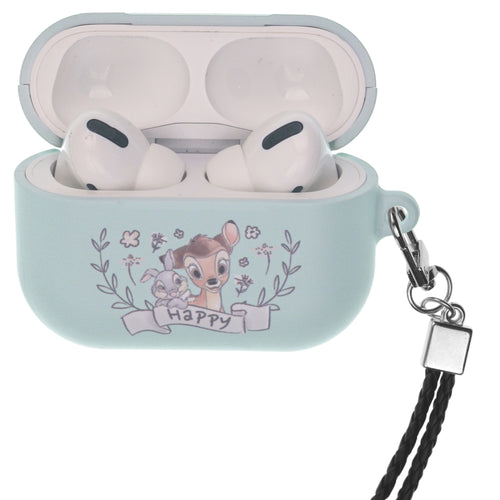 Disney AirPods Pro Case Neck Lanyard Hard PC Shell Strap Hole Cover - Full Bambi Thumper
