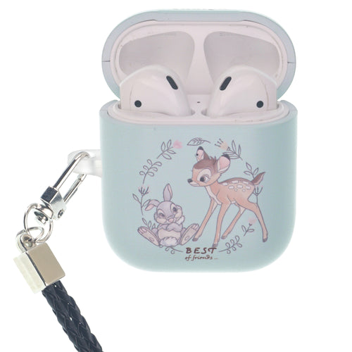 Disney AirPods Case Neck Lanyard Hard PC Shell Strap Hole Cover - Full Bambi Thumper