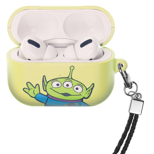 Disney AirPods Pro Case Neck Lanyard Hard PC Shell Strap Hole Cover - Toy Story Little Green Man