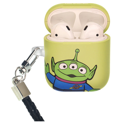 Disney AirPods Case Neck Lanyard Protective Hard PC Shell Strap Hole Cover - Toy Story Little Green Man