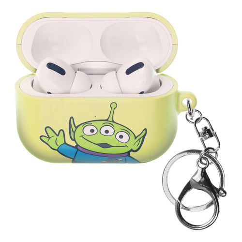 Disney AirPods Pro Case Key Ring Keychain Key Holder Hard PC Shell Strap Hole Cover - Toy Story Little Green Man