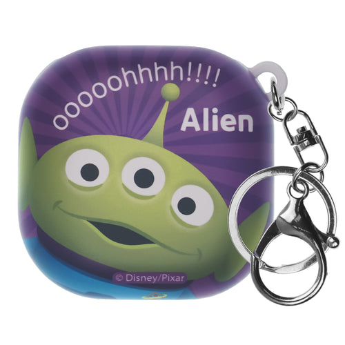 Toy Story Galaxy Buds Live Case (2020) Key Ring Keychain Key Holder Hard PC Shell Cover - Greeting Aliens