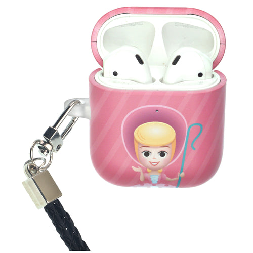 Disney AirPods Case Neck Lanyard Protective Hard PC Shell Strap Hole Cover - Greeting Bo Peep