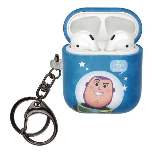 Disney AirPods Case Key Ring Keychain Key Holder Hard PC Shell Strap Hole Cover [Front LED Visible] - Greeting Buzz