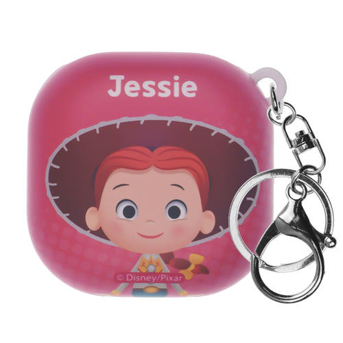 Toy Story Galaxy Buds Live Case (2020) Key Ring Keychain Key Holder Hard PC Shell Cover - Greeting Jessie