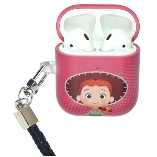 Disney AirPods Case Neck Lanyard Protective Hard PC Shell Strap Hole Cover - Greeting Jessie