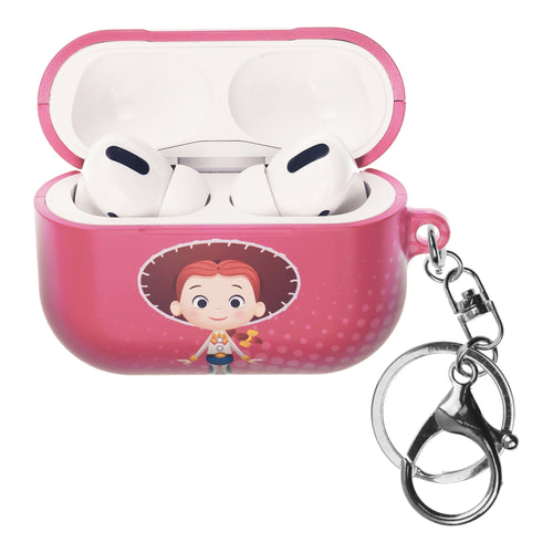 Disney AirPods Pro Case Key Ring Keychain Key Holder Hard PC Shell Strap Hole Cover - Greeting Jessie