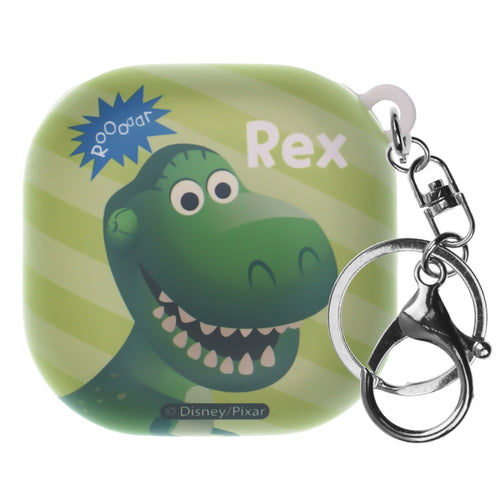 Toy Story Galaxy Buds Live Case (2020) Key Ring Keychain Key Holder Hard PC Shell Cover - Greeting Rex