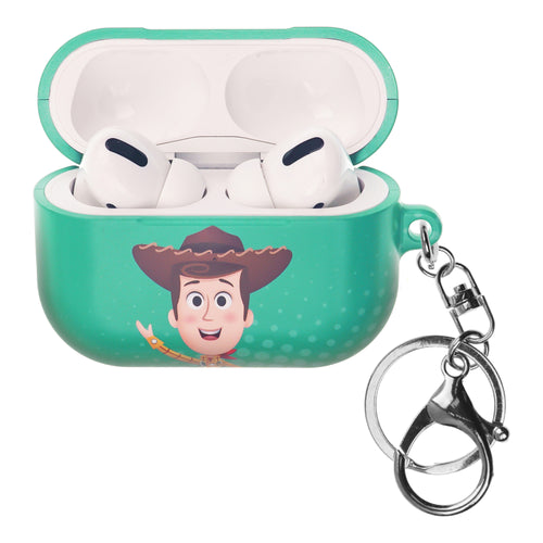 Disney AirPods Pro Case Key Ring Keychain Key Holder Hard PC Shell Strap Hole Cover - Greeting Woody