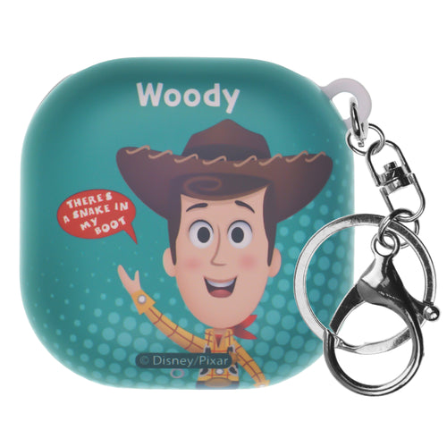 Toy Story Galaxy Buds Live Case (2020) Key Ring Keychain Key Holder Hard PC Shell Cover - Greeting Woody