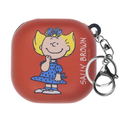 Peanuts Galaxy Buds Live Case (2020) Key Ring Keychain Key Holder Hard PC Shell Cover - Happy Sally