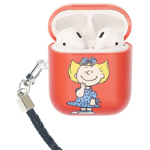Peanuts AirPods Case Neck Lanyard Hard PC Shell Strap Hole Cover - Happy Sally